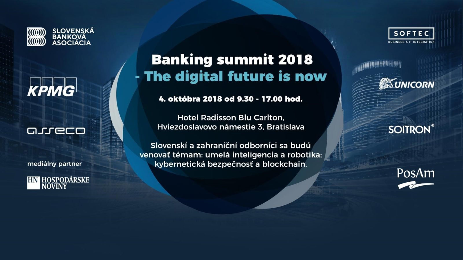 Banking summit 2018 – The digital future is now